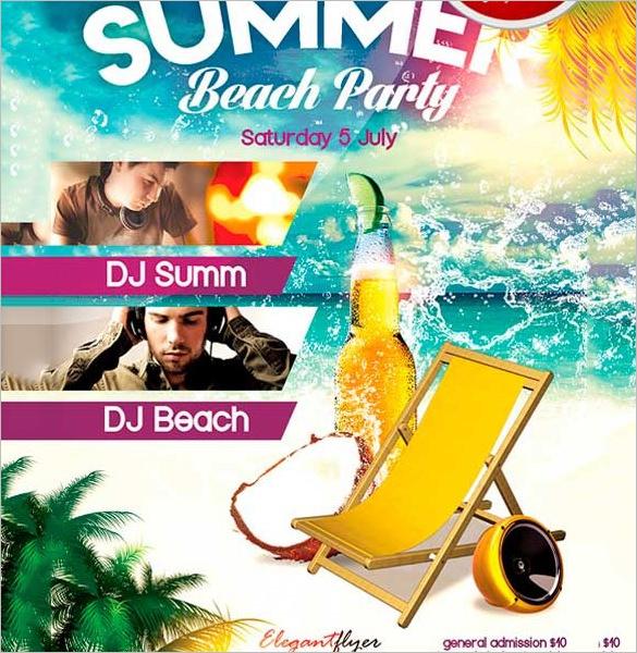 22+ Beach Flyer Templates \u2013 PSD, EPS Files Download! Free