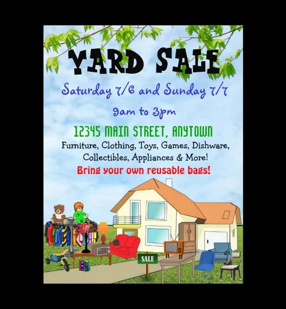 free yard sale flyer template - Towerssconstruction