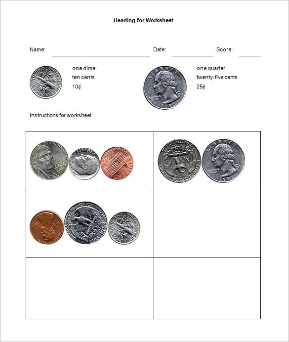 12+ Money Math Worksheet Templates \u2013 Free Word, PDF Documents - free money templates
