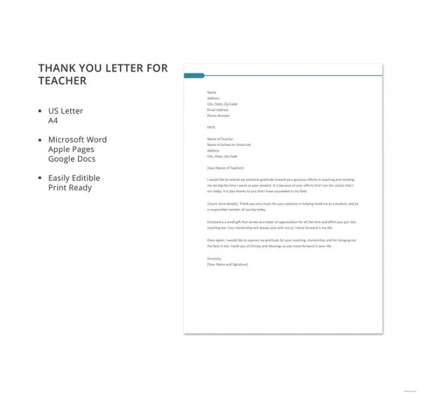 Sample Business Thank You Letter \u2013 11+ Free Sample, Example Format