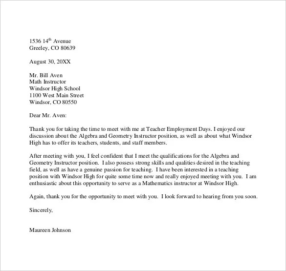 Thank You Letter to Teacher \u2013 10+Free Word, Excel, PDF Format - Letter To A Teacher