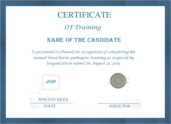Printable Certificate Template - 46+ Adobe Illustrator Documents - free training certificates