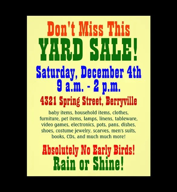 20+ Best Yard Sale Flyer Templates  PSD Designs Free  Premium