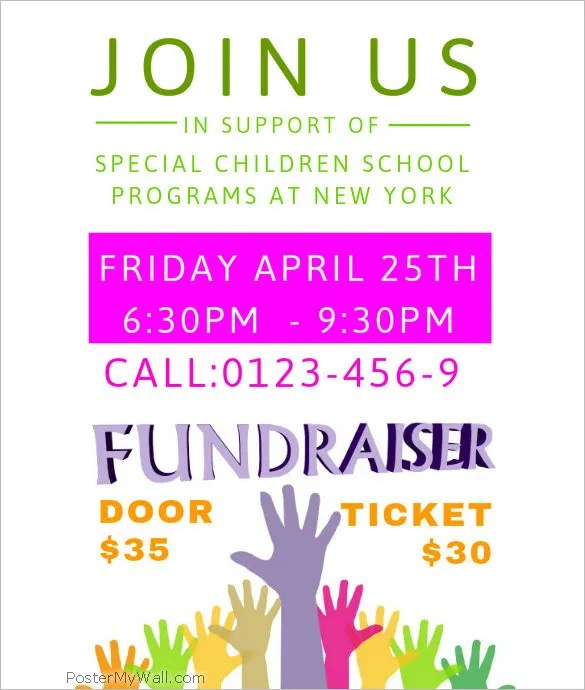 fundraiser flyer template word - Ozilalmanoof