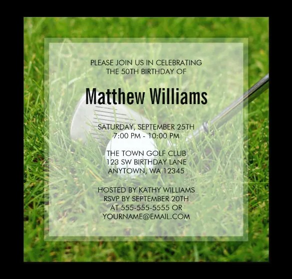 25+ Fabulous Golf Invitation Templates  Designs Free  Premium - free golf certificate templates for word