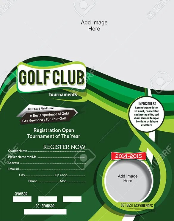 25+ Fabulous Golf Invitation Templates  Designs Free  Premium - golf tournament flyer template