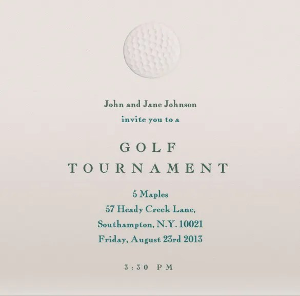 25+ Fabulous Golf Invitation Templates  Designs Free  Premium - invitation templates free online