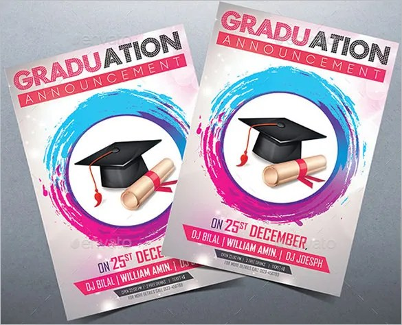 20+ Fantastic PSD Graduation Announcement Templates Free  Premium - graduation invitations free