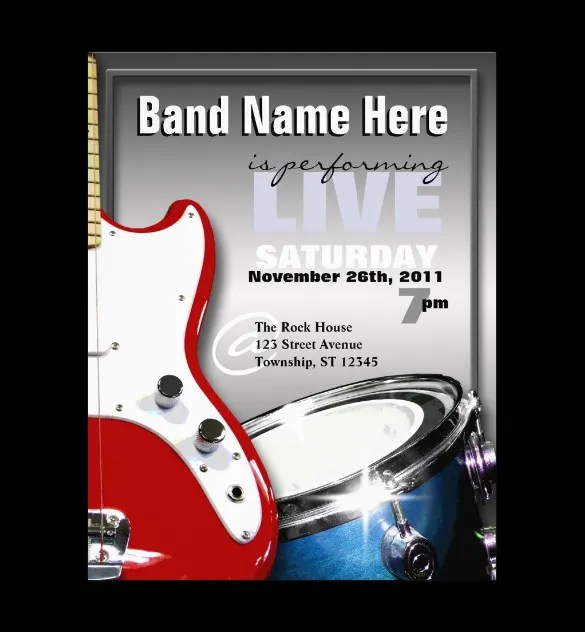 11+ PSD Band Flyer Templates - PSD, AI, Publisher, Apple Pages