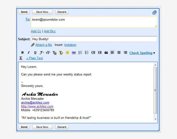 29+ Gmail Signature Templates \u2013 Samples, Examples  Format! Free