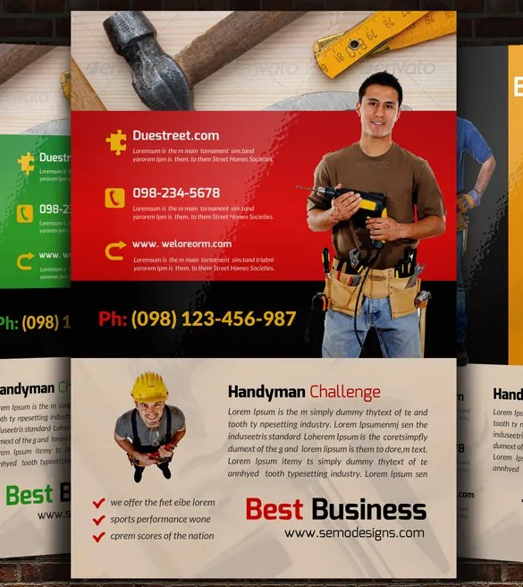 13+ Best Handyman Flyer Templates \ Designs! Free \ Premium - advertising flyer template