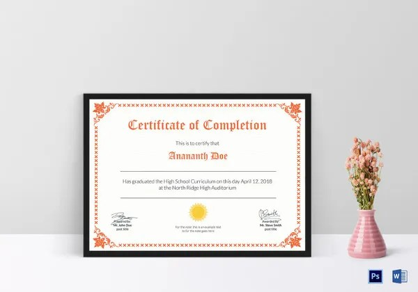 School Certificate Template - 27+ Free Word, PSD Format Download