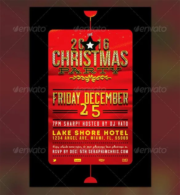 23+ Holiday Party Flyer Templates  PSD Designs Free  Premium