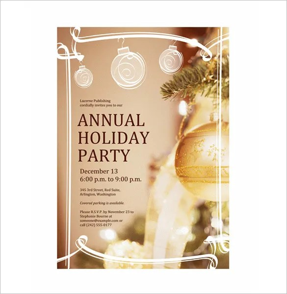 christmas party invitation flyer template - Dolapmagnetband - holiday party flyer template
