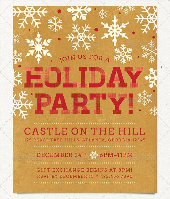 26+ Holiday Party Flyer Templates - PSD Free  Premium Templates