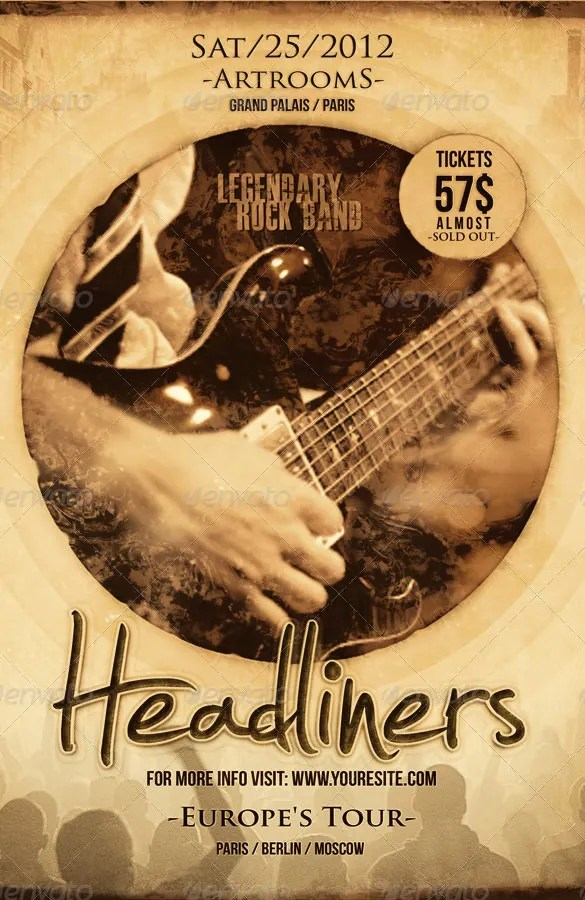 26+ PSD Band Flyer Templates  Designs! Free  Premium Templates