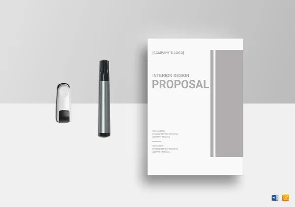 Design Proposal Templates u2013 17+ Free Word, Excel, PDF Format - interior design proposal template