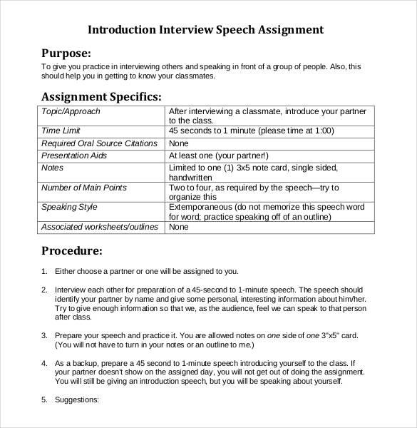 29+ Speech Outline Templates - PDF, DOC Free  Premium Templates
