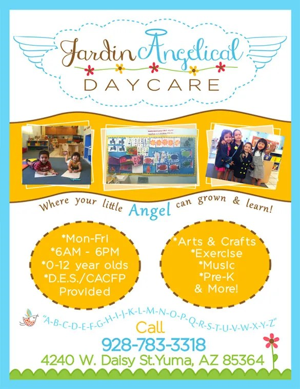 Daycare Flyer Template - 15+ Free PSD, AI, Vector EPS Format - Daycare Flyer Template