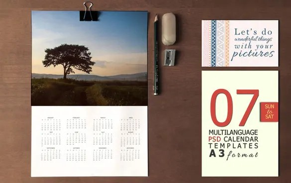 20+ PSD Calendar Templates  Designs Free  Premium Templates