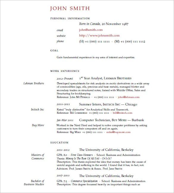 download template cv latex