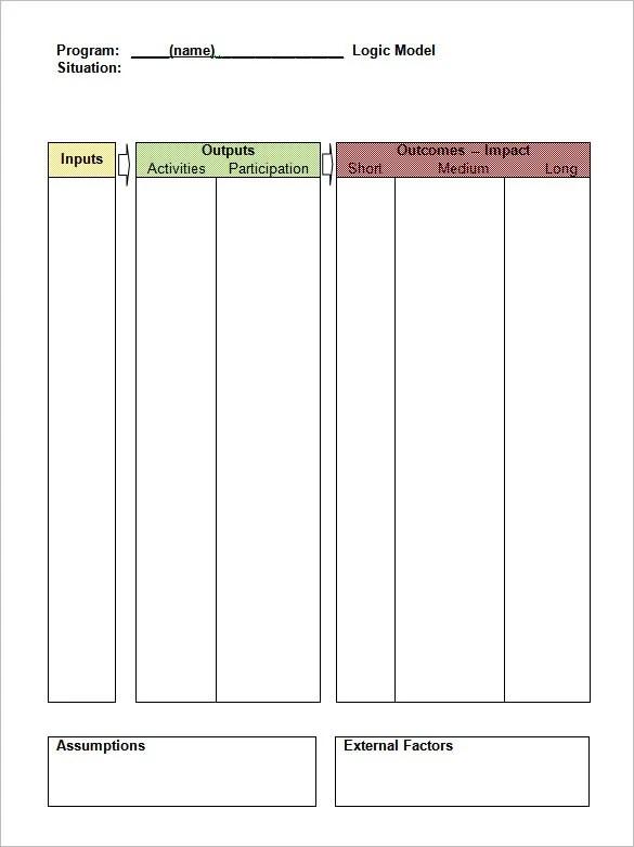 6+ Logic Model Templates \u2013 Free Word, PDF Documents Download Free - model template