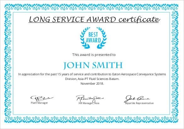 Printable Certificate Template - 46+ Adobe Illustrator Documents - award certificates templates