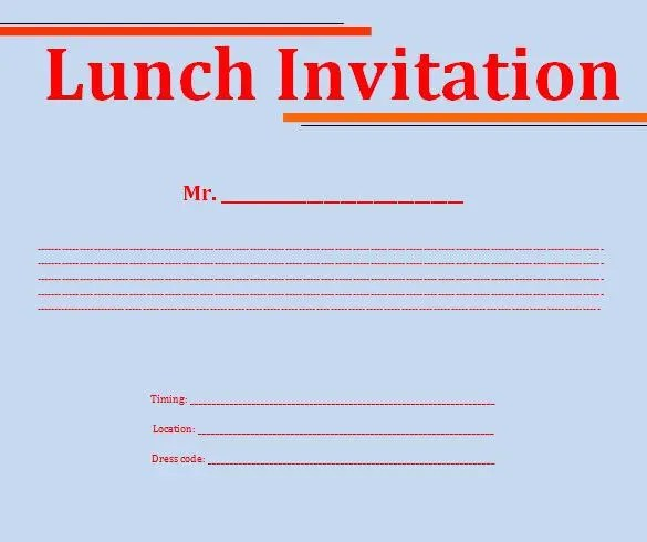 Free Lunch Invitation Template In Word \u2013 orderecigsjuiceinfo - lunch invitation templates