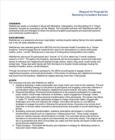 Marketing Proposal Template   7+ Free PDF Documents Download   Non Profit  Proposal Template Good Ideas