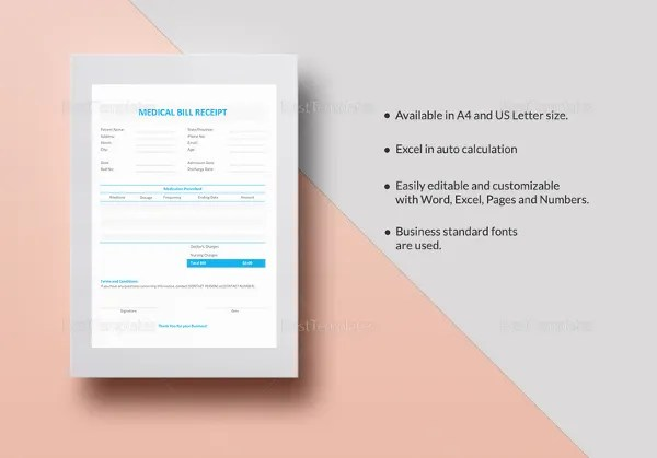 Medical Receipt Template - 12+ Free Sample, Example, Format Download