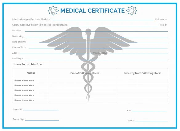 Free Medical Certificate 149 best certificate template images on – Download Medical Certificate