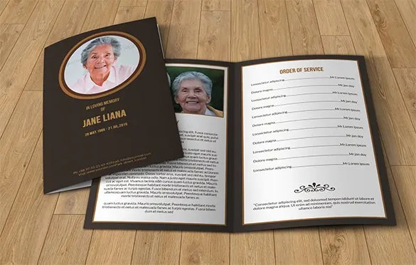 25+ Funeral Program Templates - PDF, PSD Free  Premium Templates - free template for funeral program