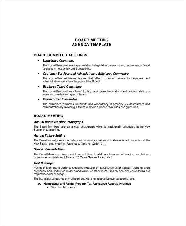 Microsoft Meeting Agenda Template \u2013 10+ Free Word, PDF Documents