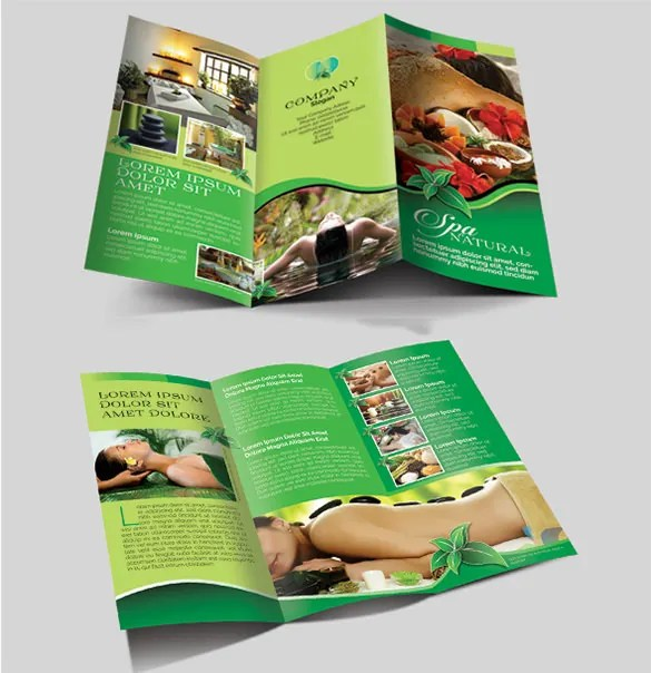 Spa Business Brochure Examples