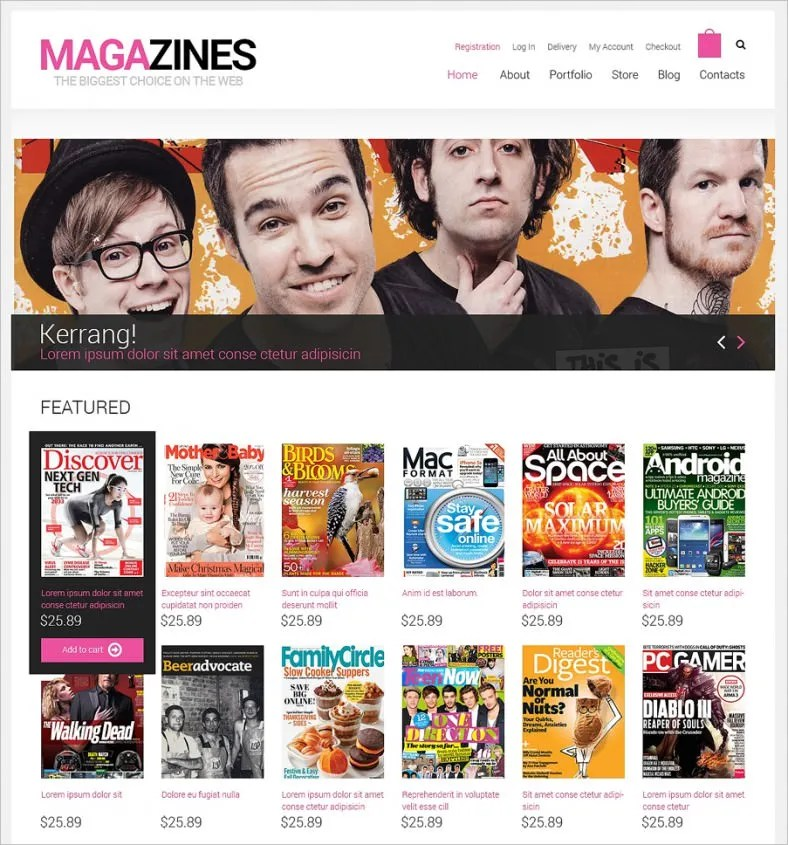 Media WooCommerce Templates  Themes Free  Premium Free - Responsive Media
