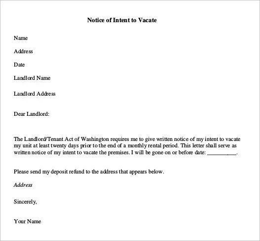 example of a notice to quit letter - Ozilalmanoof