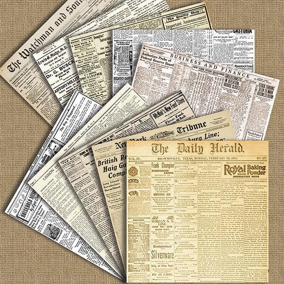 20 Old Newspaper Templates Psd Jpg Free Premium