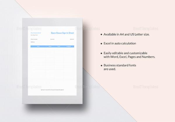 78+ Sign In Sheet Templates - DOC, PDF Free  Premium Templates