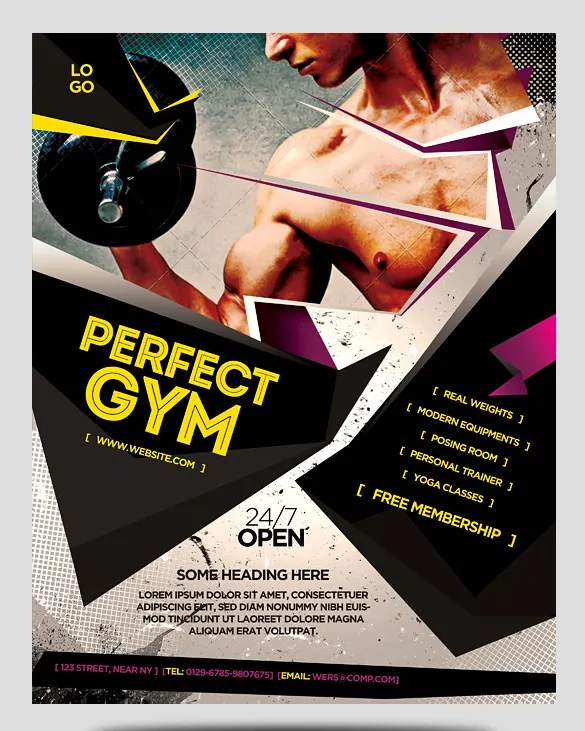 36+ Fitness Flyer Templates - Word, PSD, AI Formats Free  Premium