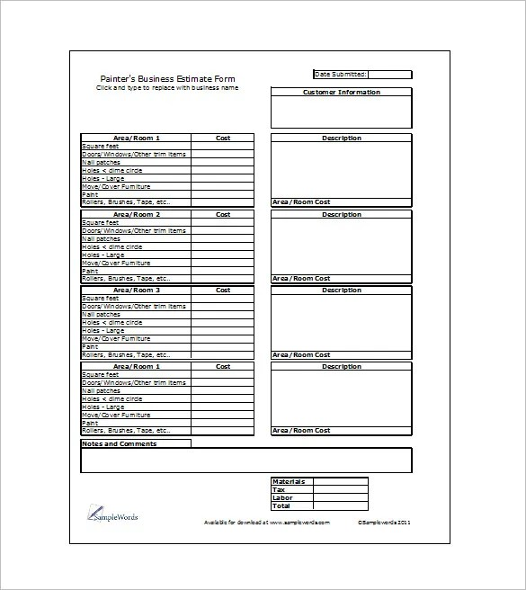 16+ Sample Estimate Templates - DOC, PDF, Excel Free  Premium