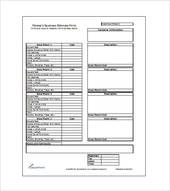 16+ Sample Estimate Templates - DOC, PDF, Excel Free  Premium - quote template doc