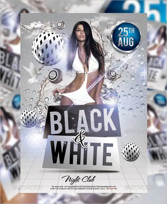 21+ Black and White Flyer Templates  PSD Designs! Free  Premium - black and white flyer template