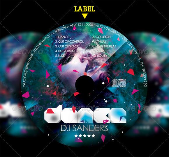 CD Label Template \u2013 22+ Free PSD, EPS, AI, Illustrator Format