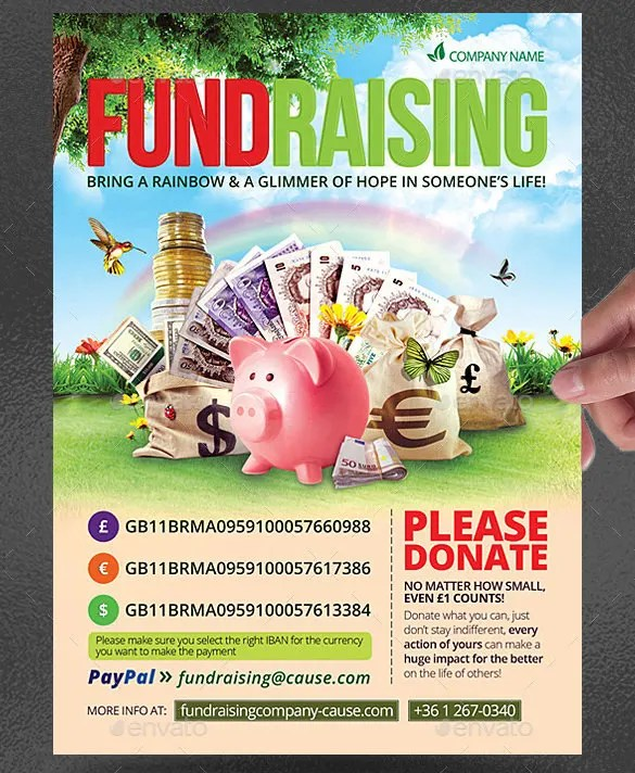 43+ Fundraiser Flyer Templates - PSD, EPS, AI, Word Free  Premium