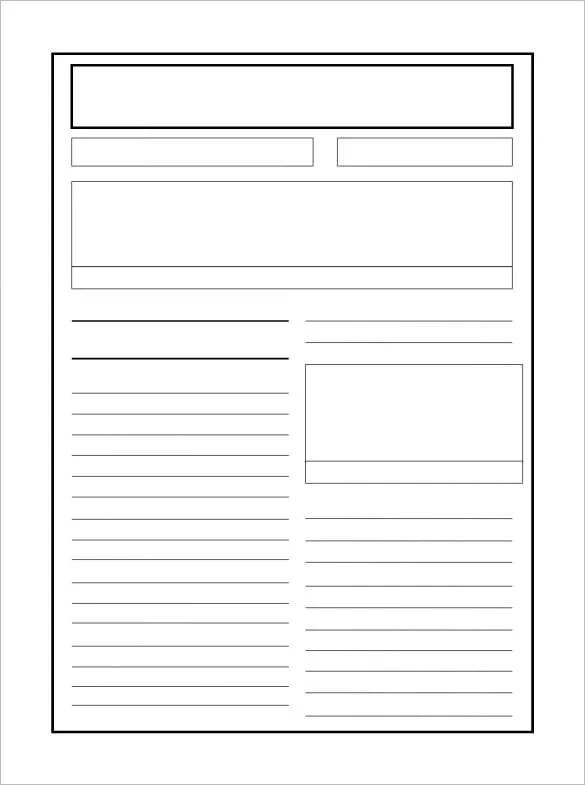 8+ Newspaper Report Templates  Illustration Design Files Free
