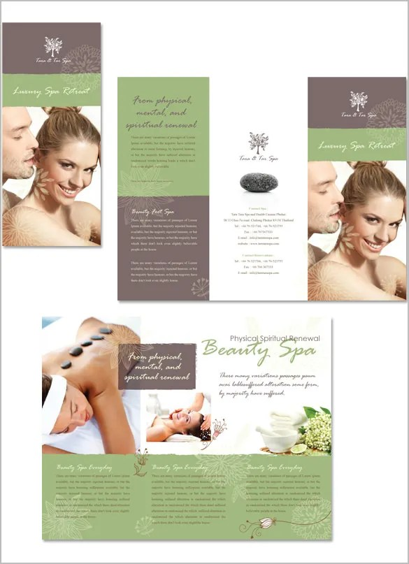 16+ Amazing Spa Brochure Template  Designs Free  Premium Templates - spa brochure template