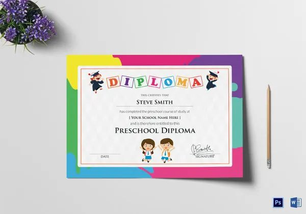 ms word diploma template