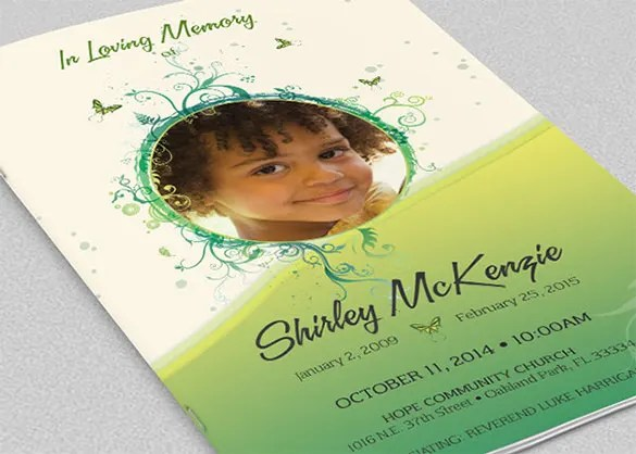 30+ Funeral Program Brochure Templates \u2013 Free Word, PSD, PDF, Excel