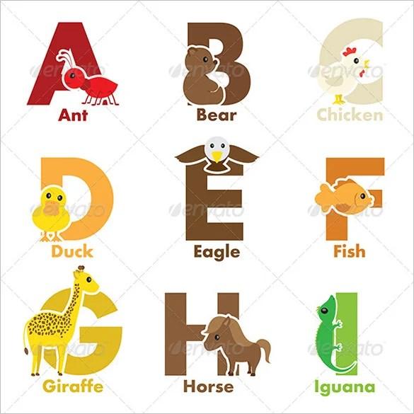 11+ Best Printable Alphabet Letters  Designs Free  Premium Templates