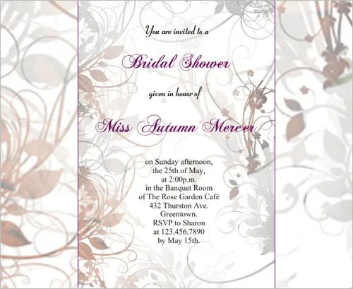 30+ Bridal Shower Invitations Templates PSD Invitations Free